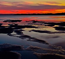 Pipe Clay Point.(sunset) by Julie  White