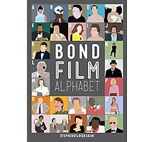 Bond Film Alphabet Photographic Print