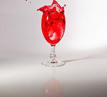Rose Wine Splash by Riaan Roux