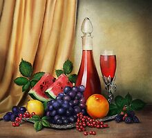 Classic Still Life with Fruits by Przemysław Bródka