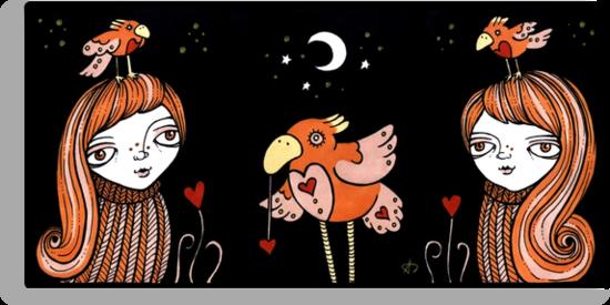 Quirky Birds by Anita Inverarity