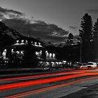 The Red Lights Trails of Banff by Ryan Davison Crisp