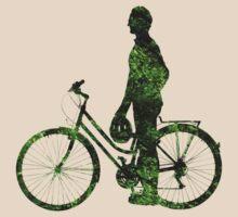Green Transport (male) T-Shirt by Andrew Bret Wallis