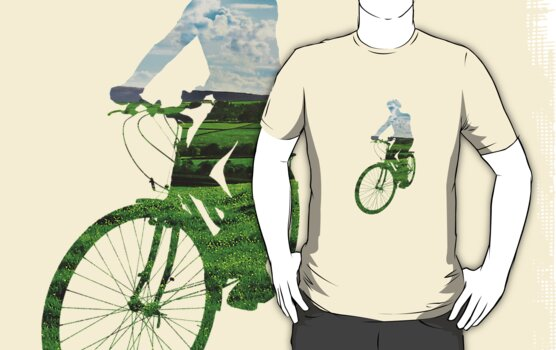 Green Transport 6 (male) T-Shirt by Andrew Bret Wallis