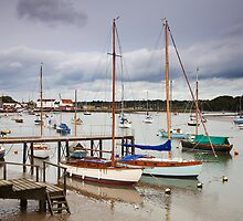 Boats at Woodbridge by Ian Merton