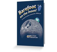 Doctor Who: Barefoot on the Moon Redux Greeting Card