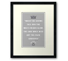 Stark Quote Framed Print