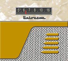 Transistor Radio - 50's Jet Gold by ubiquitoid