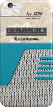 Transistor Radio - 50's Jet Aquamarine by ubiquitoid