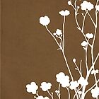 Buttercups in Brown &amp; White by Elle Campbell