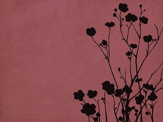 Buttercups in Pink &amp; Gray by Elle Campbell