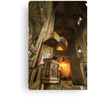 Canterbury Cathedral Pulpit Canvas Print