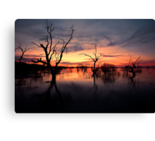 Lake Menindee Sunset  Canvas Print
