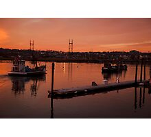 Boats at sunset. Photographic Print