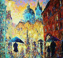 Prague. Raining the whole evening by Domnicev