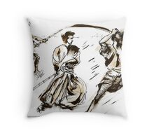 The 7 Samurai A Sketch Throw Pillow