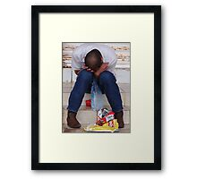 What Happend? - Que Paso? Framed Print