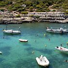 Menorcan Boats And Bathers by Fara