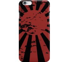 japanese naval ensign - distressed iPhone Case/Skin