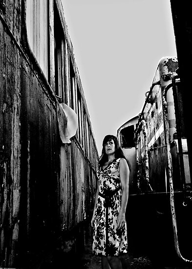 Self Portrait, Abandoned Train by MJD Photography  Portraits and Abandoned Ruins