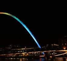 Millenium Bridge at night by Sojourner92