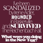 What Were You Doing in The New Year? - White Text by dederants