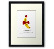 Bananas, Bowties, and fezes.  Framed Print