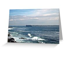 On Our Way Out To Sea Greeting Card