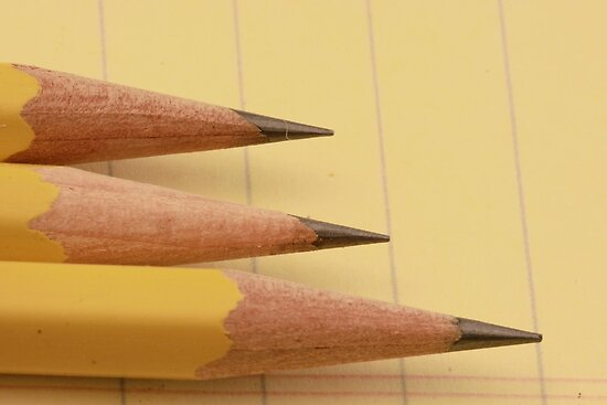 Three Pencils on Legal Pad by Robert Armendariz