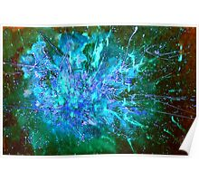 Star Burst in the Milky Way Poster