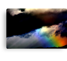Fighting in the sky. Canvas Print