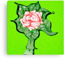 Scribblertoo Rose Canvas Print