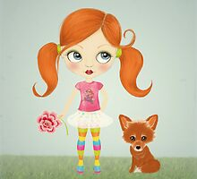 Girl and Fox by mariakallin