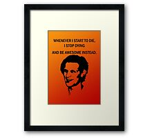 11th Doctor feels awesome. Framed Print