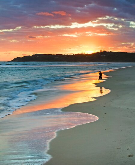 Damian's Sunrise, Nth Stradbroke Is. Qld Australia by Beth  Wode