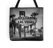 Welcome To Las Vegas Sign Series 3 of 6 Holga Black and White Tote Bag