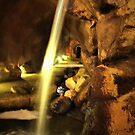 Undergound Waterfall by Barbara  Brown