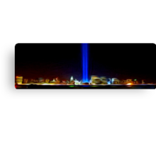 City of Bright Lights Oil Painting  Canvas Print