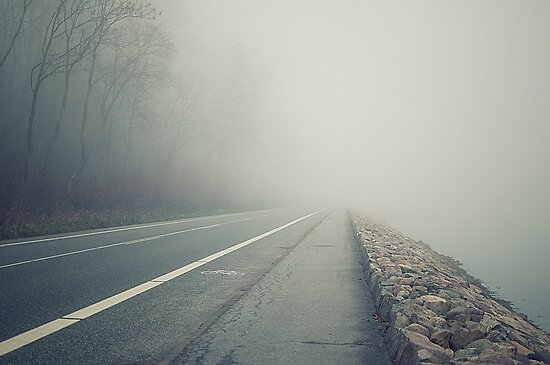 Foggy road by Henrik Hansen