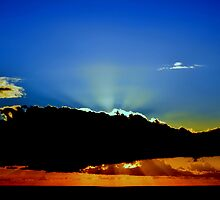 Shining behind clouds #2. In the blue. by Turi Caggegi