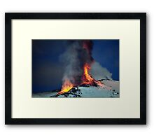 Fire on the snow. (RB EXPLORE) Framed Print