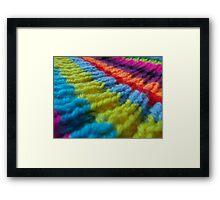 Rainbow knit Framed Print