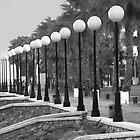 seaside promenade with street lights by james633