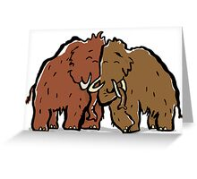 a couple of mammoth Greeting Card