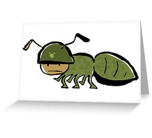 in the army Greeting Card