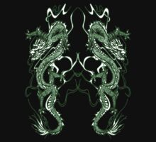Dragon Twins T-Shirt by Dennis Melling