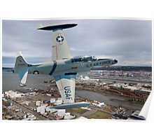 T-33 Over Tacoma  Poster