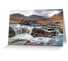 Waterfall On The River Etive Greeting Card