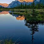 Sunset on Mt Rundle by Peter Luxem