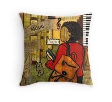 Urban Music Student Throw Pillow